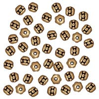 TierraCast Antiqued 22K Gold Plated Pewter Beaded Spacer Beads 3x3mm (50)