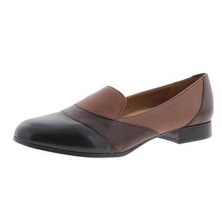Naturalizer Womens Coretta Leather Colorblock Smoking Loafers - 7.5 medium (b,m)