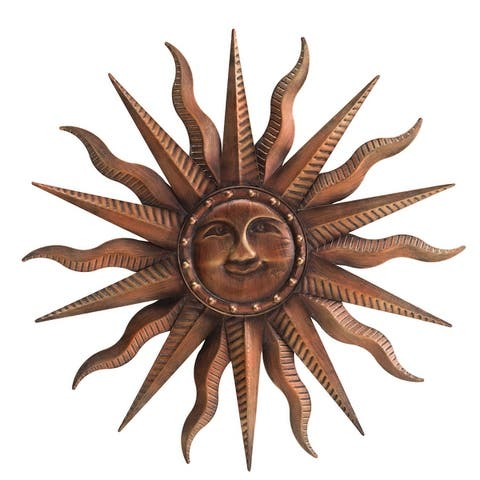 Sunjoy Decorative Solid Flares Sun Wall Art