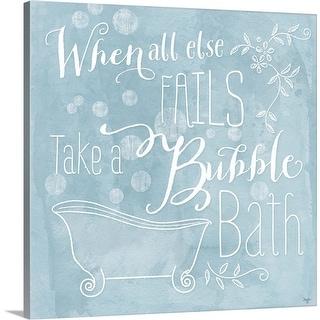 """""""Take a Bubble Bath"""" Canvas Wall Art"""