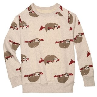 LA Soul Women's Sloth Sweatshirt - Gray Cotton/Poly Blend with Cute Sloth Print