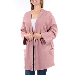 ALFANI $180 Womens New 1124 Pink Pocketed Long Sleeve Open Cardigan Top M B+B