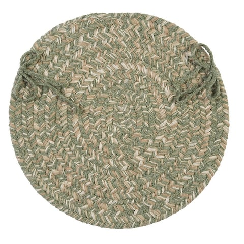 Tremont Wool Blend Round Braided Chair Pads