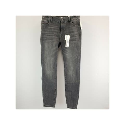 M1858 NEW YORK Womens Black Denim Skinny Jeans Size 14/32
