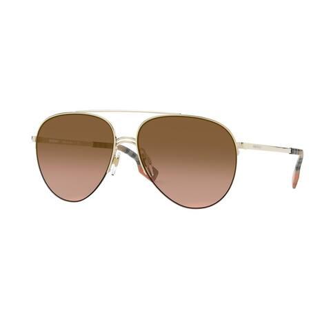 Burberry BE3113 110913 59 Light Gold Woman Pilot Sunglasses