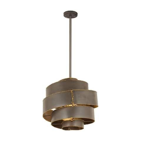 Lindsey Mount - 3 Light Pendant Forged Gray/Gold Solder/Gold Solder