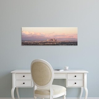 Easy Art Prints Panoramic Images's 'View of city at dusk, Downtown Los Angeles, Los Angeles, California' Canvas Art