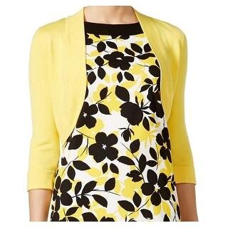 Jessica Howard NEW Yellow Women's Size 14P Petite Cardigan Sweater