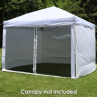 Zippered Sidewall Kit for 10-Foot Straight Leg Canopy - 3 Panels - 1 Zippered