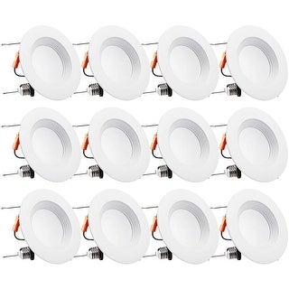 12 PACK 15W 6 inch Dimmable Recessed LED Downlight, 2700K
