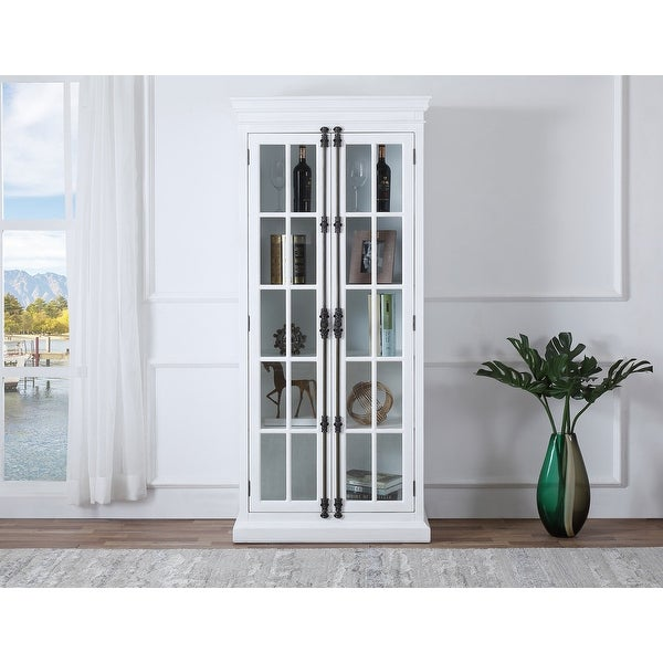 Best Master Furniture Poplar Wood 4 Shelves with Glass Curio Cabinet. Opens flyout.