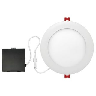 """Globe Electric 91219 LED Integrated Ultra Slim Recessed Kit, White, 12W, 6"""""""