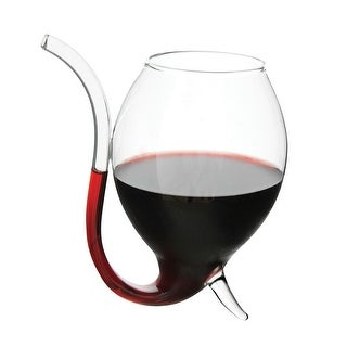 Wino Sipper Glasses Built In Straw - Set of Two