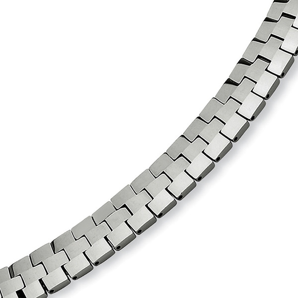 Chisel Polished Tungsten Carbide Bracelet - 8.5 Inches