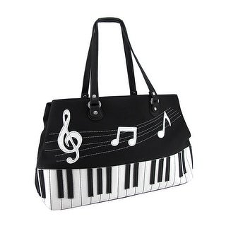 Black And White Piano Keys Music Symbol Canvas Handbag