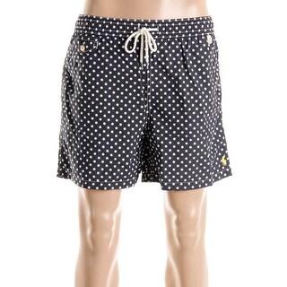 Polo Ralph Lauren Mens Polka Dot Mesh Lined Swim Trunks