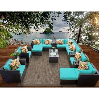 Miseno MPF-BRBD17A Caribbean 17-Piece Aluminum Framed Outdoor Conversation Set w