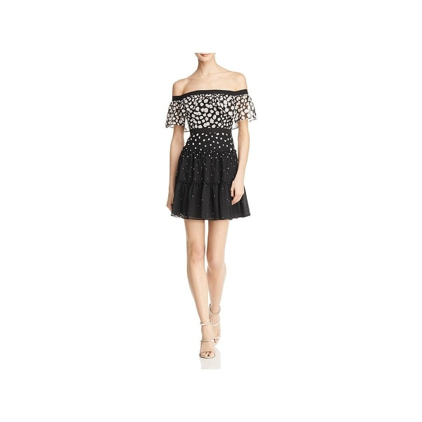 a460cce86 Shop BCBG Max Azria Womens Rayanne Cocktail Dress Off-The-Shoulder Mini -  Free Shipping Today - Overstock - 27899803