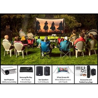 Recreation Series - 9 Foot Backyard Theater System
