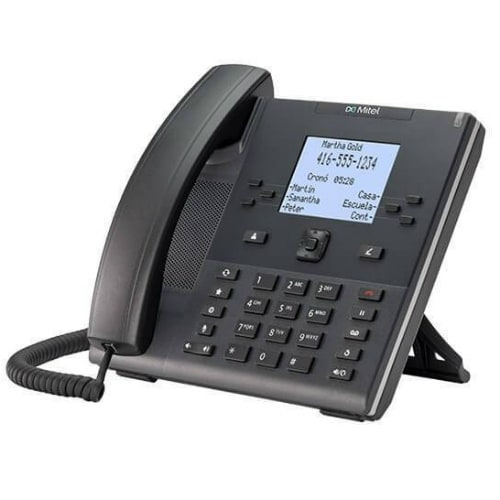 """Mitel 6392 2-Line Corded Analog Business Phone"""