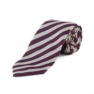 Ermenegildo Zegna Men's Silk Striped Tie Purple - no size
