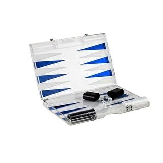 """Infinity BG180BE 18"""" Lucite Backgammon Set, Blue"""
