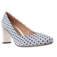 Nina Poetry Classic Pumps, Blue Wicker
