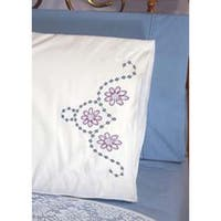 "Wild Flower - Stamped Perle Edge Pillowcases 30""X20"" 2/Pkg"