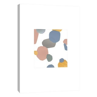 """PTM Images 9-105652  PTM Canvas Collection 10"""" x 8"""" - """"Collage With Stripes 2"""" Giclee Abstract Art Print on Canvas"""