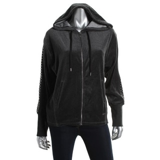 Two by Vince Camuto Womens Velour Embellished Hoodie - XL