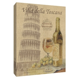 """PTM Images 9-154517  PTM Canvas Collection 10"""" x 8"""" - """"Travel Wine II"""" Giclee Wine Art Print on Canvas"""