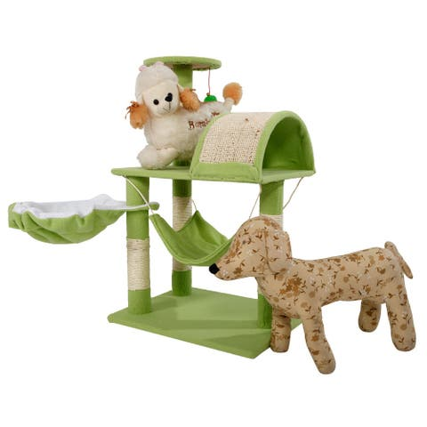 """32""""/28"""" Stable Cute Sisal Cat Climb Holder Cat Tower Multi-Color"""