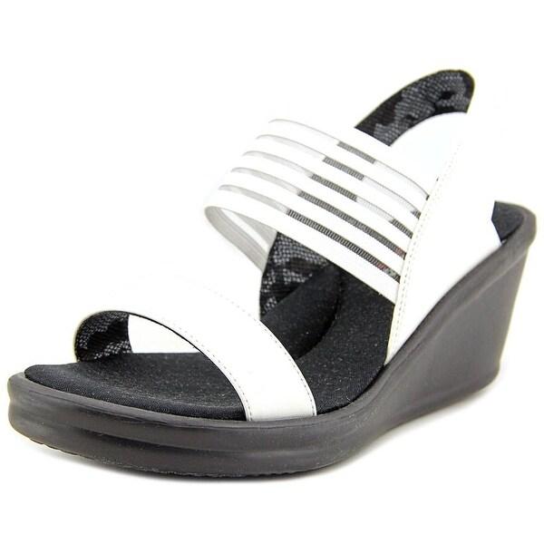 Skechers Rumblers-Sci-fi Women Open Toe Synthetic White Wedge Sandal