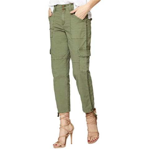 Sanctuary Clothing Womens Cropped Casual Cargo Pants, Green, 27