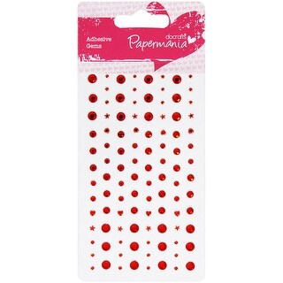 Papermania Adhesive Stones 104/Pkg-Red