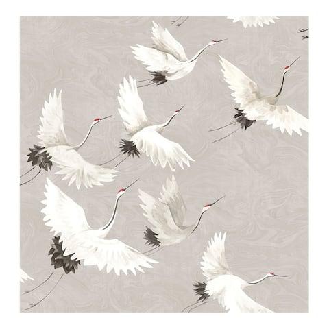 Grey Halcyon Peel & Stick Wallpaper - 216in x 20.5in x 0.025in