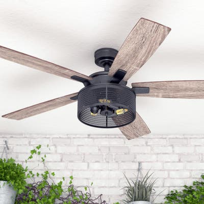 Honeywell Carnegie Black Mesh LED Ceiling Fan with Remote