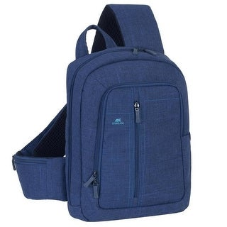 Rivacase 7529BLUE 13.3 in. Laptop Sling Backpack, Blue - 6