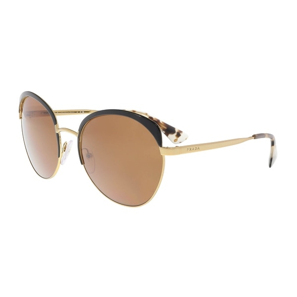 1afd1a7cdc0fe Shop Prada PR 54SS LAX6N0 Antique Gold Black Round Sunglasses - 59 ...