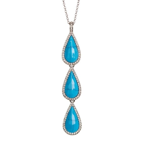 Karen Kane Womens Coronado Pendant Necklace Triple Teardrop