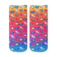 Living Royal Photo Print Ankle Socks: Beach Emoji - Multi