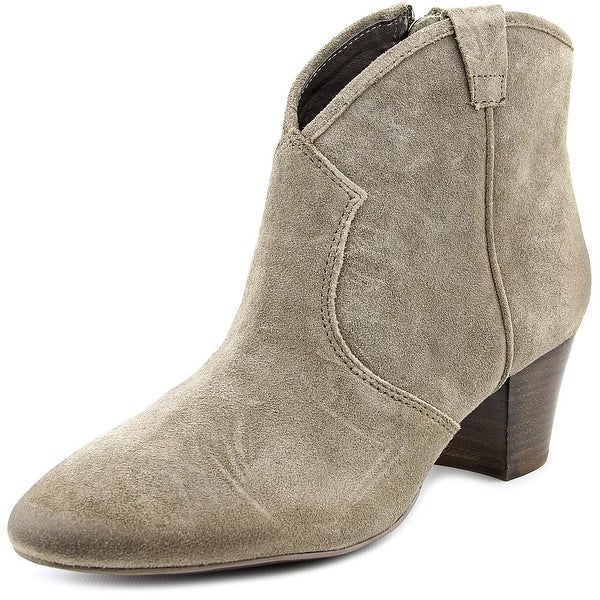 Ash Spiral Women Round Toe Suede Gray Ankle Boot