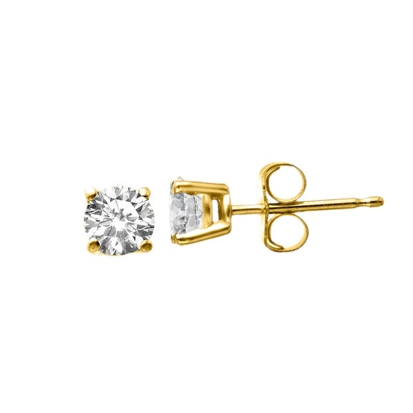 5/8 ct Diamond Stud Earrings in 14K Gold