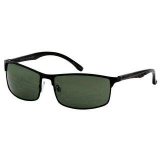 Perry Ellis Mens Black Metal Sunglasses PE75-1, Includes Perry Ellis Pouch, 100% UV Protection