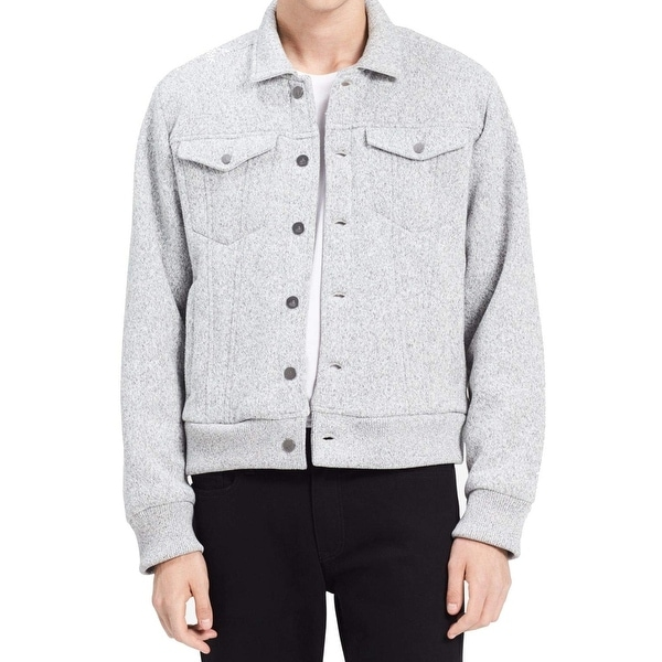 b12c56b221a Shop Calvin Klein Jeans Gray Mens Size Medium M Fleece Trucker Jacket - On  Sale - Free Shipping On Orders Over  45 - Overstock - 26984776