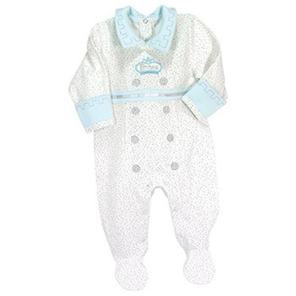 Stephan Baby 750165 3 Months Prince Footie - Pack of 2