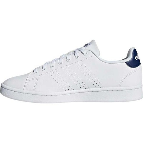 Shop adidas Men's Advantage Sneaker White/White/Dark Blue ...