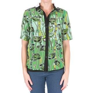 Ostwald Helgason Womens Silk Button Front Blouse