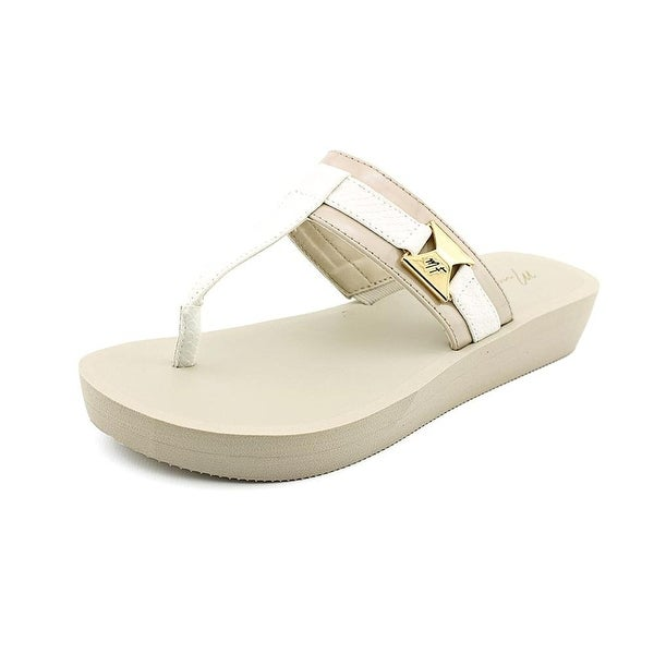Marc Fisher Womens Sunam Split Toe Casual Slide Sandals
