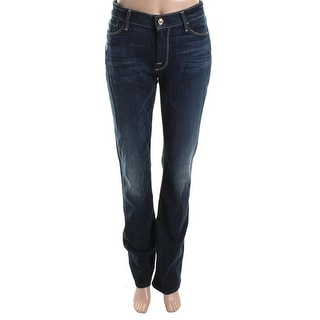 7 For All Mankind Womens Skinny Distressed Bootcut Jeans - 28